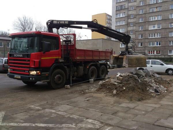 transport ciężarowy łódź