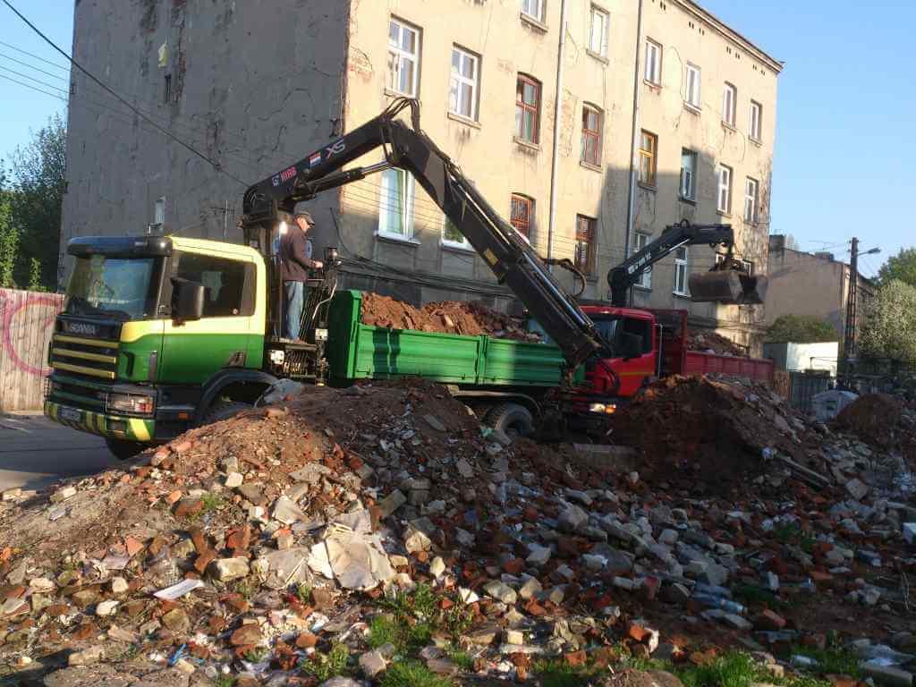Odpady budowlane i gruz – transport specjalistyczny