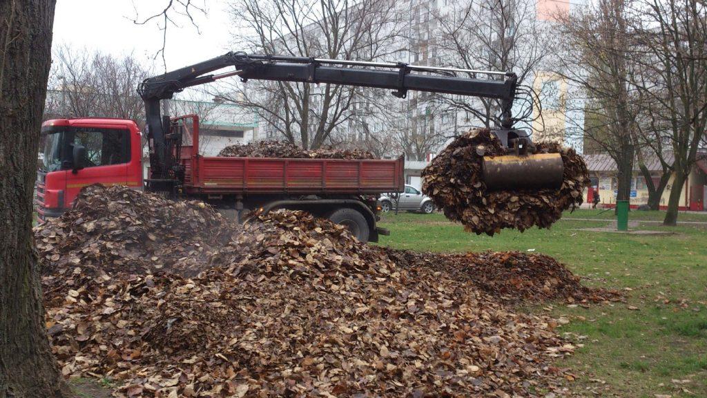 Wywóz liści i odpadów zielonych